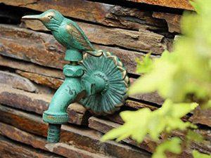 Greenspring Bird Decorative Solid Brass Garden Outdoor Faucet