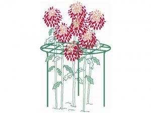 Bosmere 18-Inch Plant Grid with 3 x 25-Inch Legs