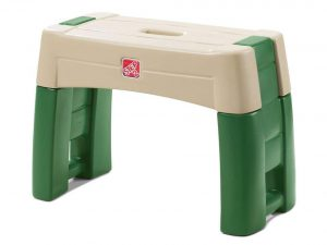 Step2 Garden Kneeler Seat - Durable Plastic Gardening Stool with Kneeling Cushion Pad