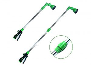 EasyGo Telescopic Watering Wand with 8-Pattern Water Nozzle Sprayer with Ergonomic Squee