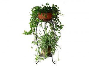 Dazone Demountable Metal 2 Tiers Plant Stand Indoor Floor Model Potted Plant Rack