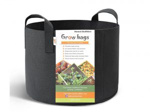 HONEST OUTFITTERS 5-Pack 7 Gallon Smart Grow Bags for Potato/Plant Container/Aeration Fabric Pots with Handles