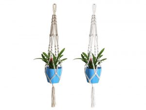 Acerich 2 Pcs Macrame Plant Hanger Indoor Outdoor Hanging Plant Holders Planter Basket