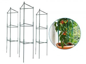 EasyGO Products Tomato Cages Stakes-Vegetable Trellis-3 Pack Plant