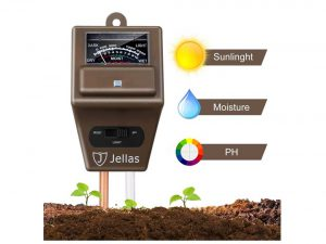 Soil Moisture Meter - 3 in 1 Soil Tester Kit Jellas Plant Moisture Sensor Meter/Light/pH Tester