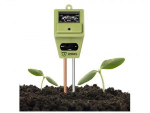 Jellas Soil Moisture Meter 3-in-1 Soil pH Meter Moisture Sensor Sunlight pH Soil Test Kits for Home and Garden