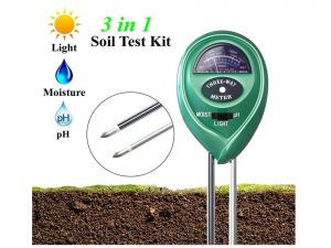 XIYIXIFI Soil pH Meter, 3 in 1 Soil Test Kit for Moisture, Light & pH for Garden, Lawn, Farm, Plants, Herbs
