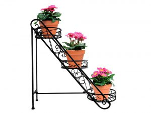 Sorbus 3-Tier Flower Plant Stand - Slanted Flower Pot Holder for Home, Garden, Patio, Plant Lovers, Housewarming, Mother's Day