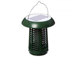 Sandalwood Solar-Powered UV Bug Zapper, Insect Killer & LED Garden Lamp