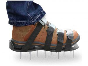 Premium Nylon Heavy Duty Lawn Aerator Shoes with 4 Adjustable Straps and Metal Buckles