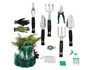 AYUBOOM Garden Tool Set with 13 Piece Gardening Kit