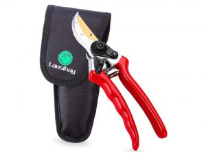 Titanium Hand Pruner Shears Included Nylon Sheath and Fancy Gift Box - Best Pruning Tools, Pruning Snip, Tree Trimmer, Garden Shears, Top Choice Bush, Shrub & Hedge Clippers