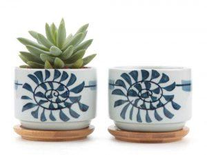 Ceramic Japanese Style Succulent Plant Pot/Cactus Plant Pot Flower Pot