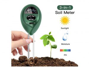FYLINA Soil pH Meter, 3 in 1 Soil Test Kit for Moisture, Light & pH / Acidity