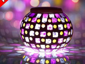 Senbowe™ Solar Powered Mosaic Glass Ball LED Garden Lights for Home, Yard & Patio