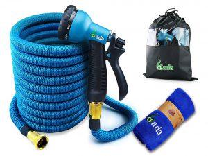 Gada Expandable Garden Hose with 8 Function Spray Nozzle