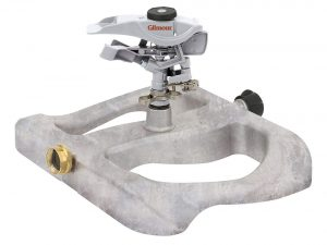 Gilmour Metal Head Impulse Sprinkler on Metal Sled Base