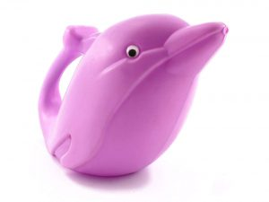Cornucopia Brands Dolphin Plastic Watering Can-Kid-Friendly w/Googly Eyes