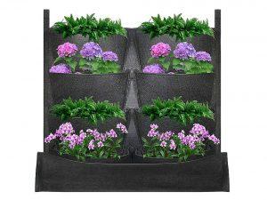8-Pocket Waterproof Vertical Garden Hanging Planter Bag
