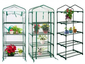 Quictent Hot 4 tier Mini Portable Green Hot Seeds House Indoor Outdoor w/Shelves Greenhouse