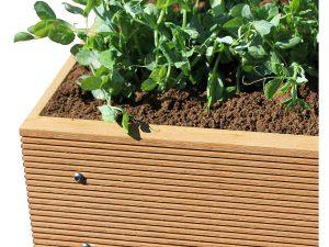 ECOgardener Premium Raised Bed Garden Planter Box 4' x 4' – The Most Beautiful Elevated Planter That Will not Crack, Split, warp or Break. Easy Setup & Maintenance Free Design