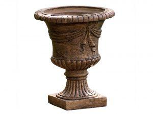 Great Deal Furniture Ferrara Antique Light Brown Stone Planter