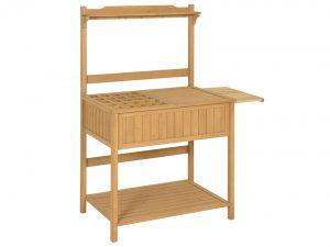 Outdoor Garden Wooden Recessed Storage Potting Bench Work Station