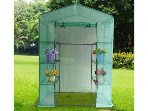 Quictent Mini Walk-in Greenhouse 4 tiers 6 Shelves Portable Small Green Grow Garden plant Plastic House