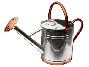 Gardman Galvanized Watering Can with Copper Accents, 1.9 Gallon
