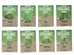 Herb Garden Seeds – 8 Variety Kitchen Herbal Gardening Assortment