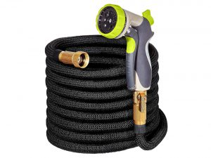 Hospaip Garden Hose With Double Latex Core, 3/4 Solid Brass Fittings